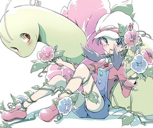 anime, crystal, and flowers image