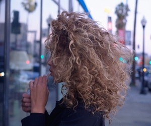 blonde, curly, and haïr image