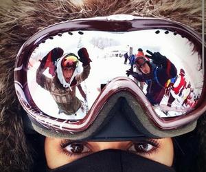 Nina Dobrev, snow, and tvd image