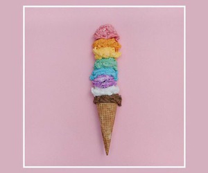 ice cream, pink, and wallpaper image