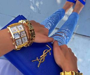 fashion, blue, and style image