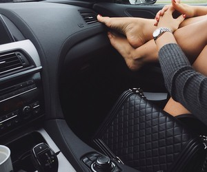 black, car, and chanel image