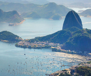 brazil, city, and beach image