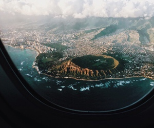 travel, nature, and plane image