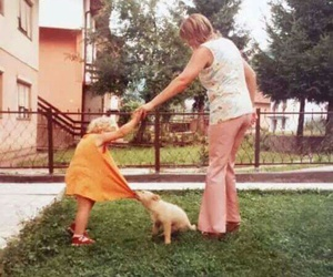beauty, family, and dog image