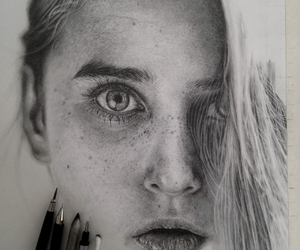 dessin, draw, and eyes image