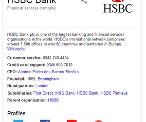 hsbc, customer service, and contact number image