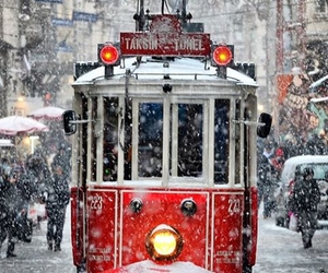 snow, winter, and istanbul image