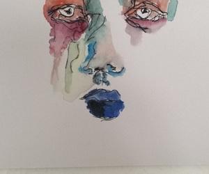 aquarell, art, and cry image