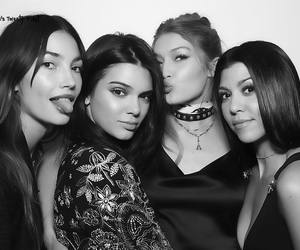 kendall jenner, gigi hadid, and kourtney kardashian image