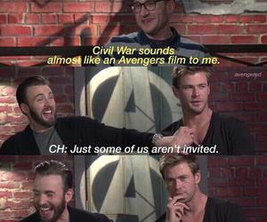 thor, chris evans, and civil war image