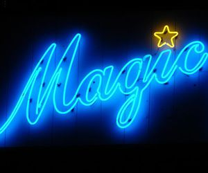 neon, magic, and blue image