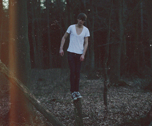 boy, forest, and hipster image