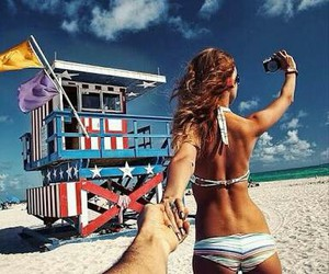 beach, summer, and follow me image