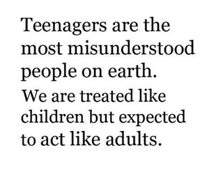 quote and teenager image