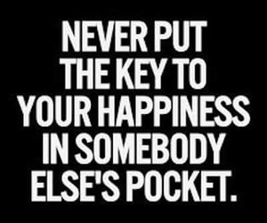 happiness, never, and key image