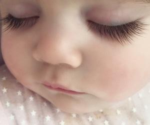 baby, eyelashes, and eyes image