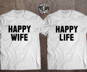 couple tshirts, etsy, and happy life image