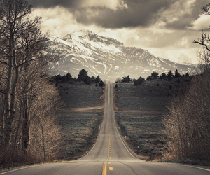 road, mountains, and photography image
