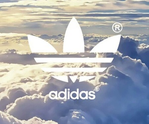 adidas, clouds, and sky image