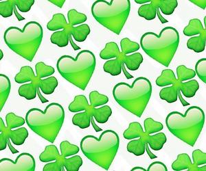 green, heart, and emoji image