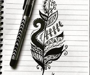 black, creative, and draw image