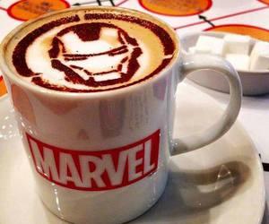 Marvel, coffee, and iron man image