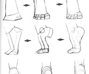 feet, drawing, and draw image