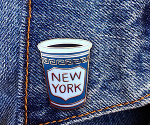 jeans, new york, and blue image