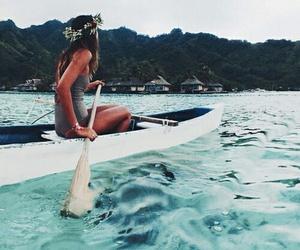 adventure, boath, and beach image