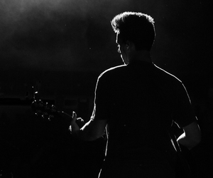 jacob whitesides, black and white, and concert image