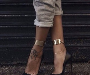 shoes, style, and tattoo image