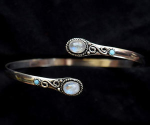 cuff, jewellery, and moonstone image
