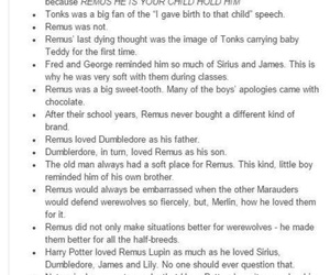 harry potter, remus lupin, and hogwarts image