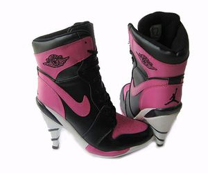 air jordan, heels, and pink image
