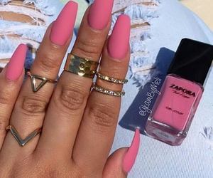 hands, pink, and nails image
