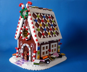 adorable, gingerbread house, and holidays image