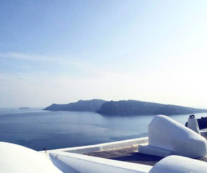 blue, Greece, and santorini image