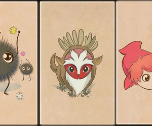 fanart, princesse mononoké, and Ponyo image