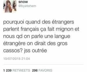 french, funny, and tweet image