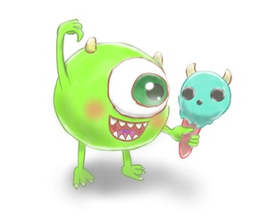disney, monsters inc, and mike wazowski image