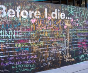 before i die, die, and wall image