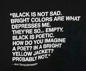 black, quote, and sad image