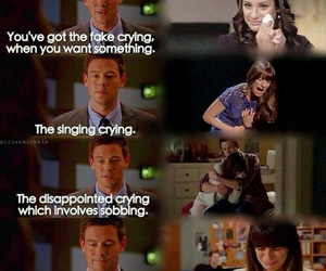 glee, cory monteith, and cry image