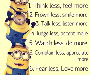 quotes, happiness, and minions image