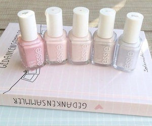 nails, essie, and pastel image