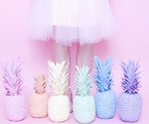 pastel, pink, and pineapple image