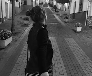 girl and love black and white image