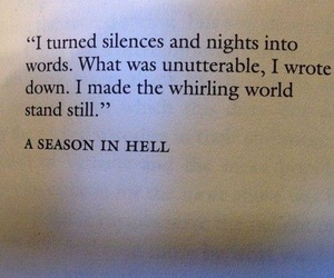 Arthur Rimbaud, beautiful, and a season in hell image