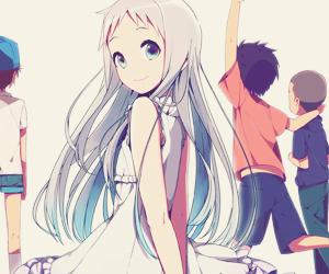 anime, ano hana, and menma image